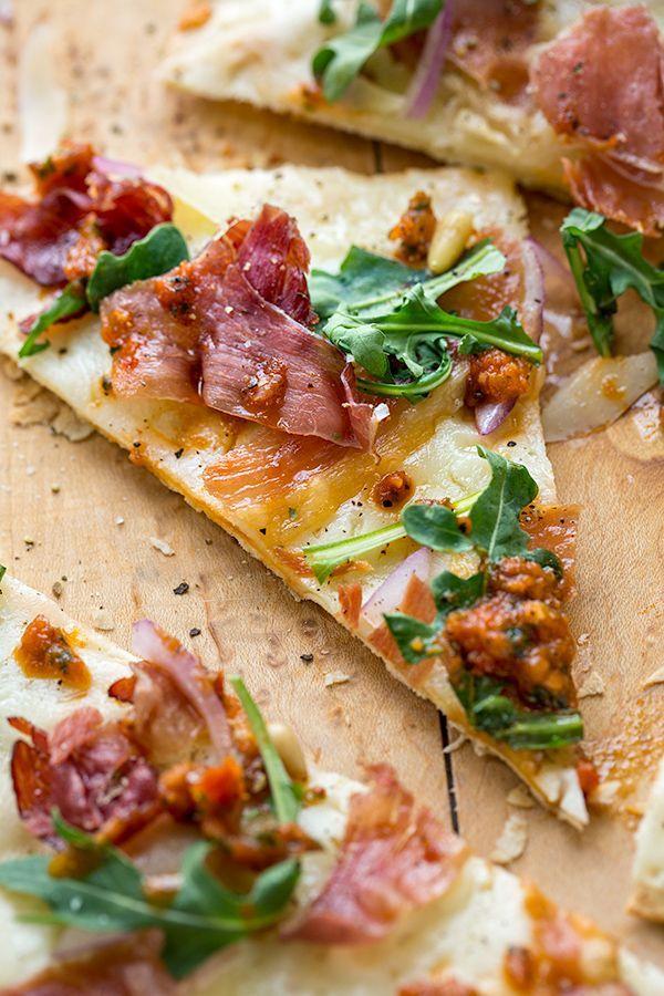 Crispy Prosciutto Flatbread Pizza