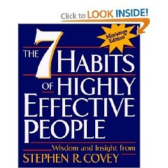 I love this book, in particular I like the Circle of Influence, Circle of Concern analogy and the time management matrix. Be more effective, if you don't like to read get the audio book. Ps. $5 at walmart is amazing for new book of priceless value. I also recommend www.bookfinder.com