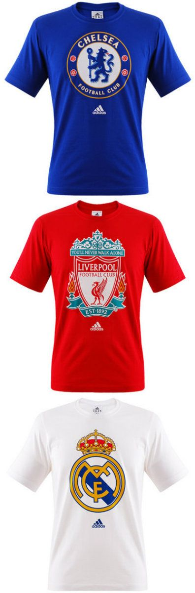 adidas Chelsea , Liverpool , Real Madrid core shirts