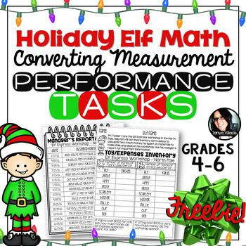 Need to challenge your students? Want feedback on how your class is mastering the material you teach? Looking for more than a standard multiple choice assessment? Take your math instruction to the next level and get your students excited about math! PERFORMANCE TASKS ARE WHAT YOUR STUDENTS NEED.This holiday freebie contains a performance task for your students to practice converting customary units of measurement for length.