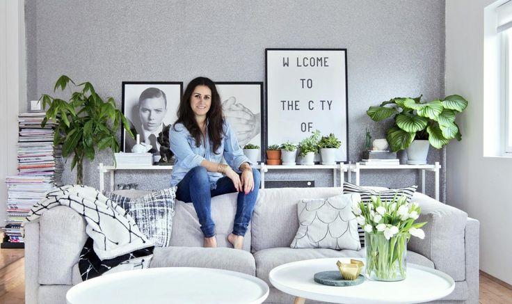 Glad i grønne planter du også? Bli med hjem til interiørstylist Linda Elmin.