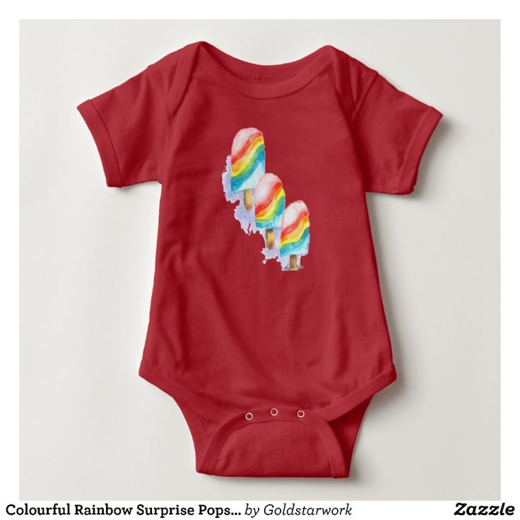 Colourful Rainbow Surprise Popsicle Baby Bodysuit
