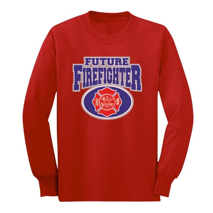 TeeStars - Future Firefighter Long Sleeve Kids T-Shirt Small Red. Look AMAZING wearing our classic crew neckline long sleeve t-shirt, 100% combed-cotton. Wear it day or night for an instantly awesome look!. Trendy, brightly colored graphics. A unique gift idea for a friend or family member. Available in toddler- junior / youth size. Printed exclusively in the USA. Using the latest in garment printing technology - the same quality you will find in any city boutique or department store. Our...