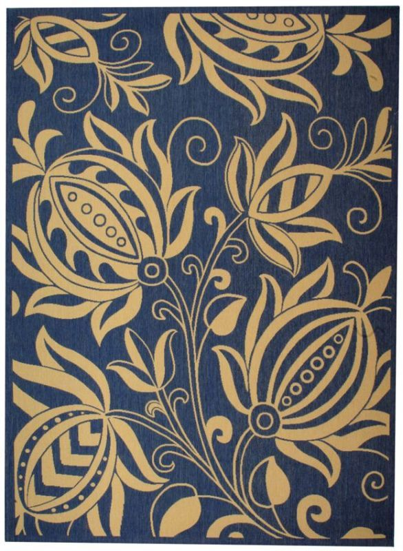 Safavieh Courtyard Courtyard CY2961 Natural Blue Rug | Country & Floral Rugs #RugsUSA