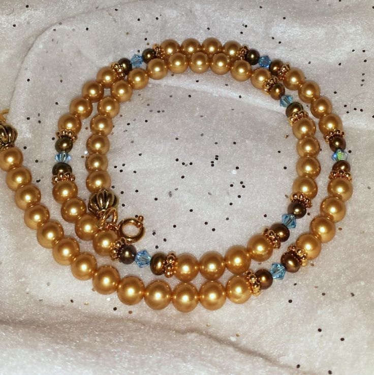 Stunning Gold and Blue Set - Jewelry creation by K. Lynn Designs