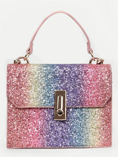 939b438dcd Shop Rainbow Glitter Grab Bag online. SheIn offers Rainbow Glitter Grab Bag  & more to fit your fashionable needs.