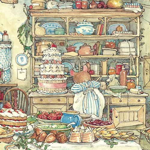 The wedding day dawned at last. The kitchens of Brambly Hedge were full of…