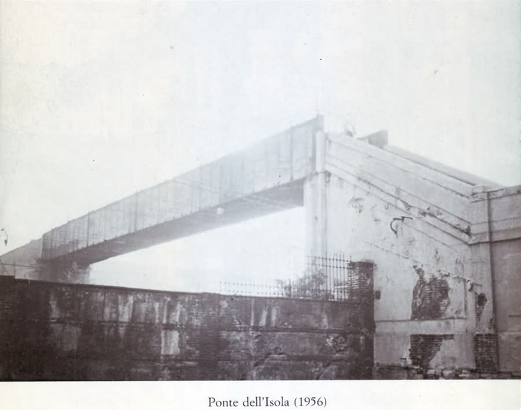 Ponte dell'Isola, 1956