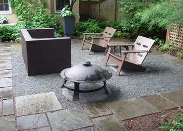 Bluestone Gravel Patio Traditional Chicago By
