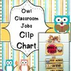 This is an owl themed clip chart for classroom jobs. This features 18 jobs-  Floor Monitor Light Monitor Caboose Line Leader Teacher Helper Paper P...