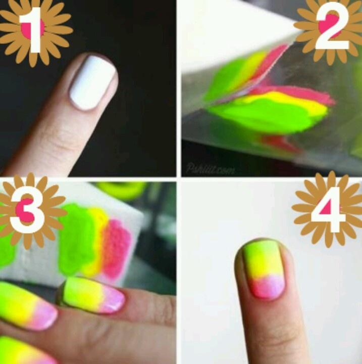 33 best Sponge nail art images on Pinterest | Belle nails, Nail ...