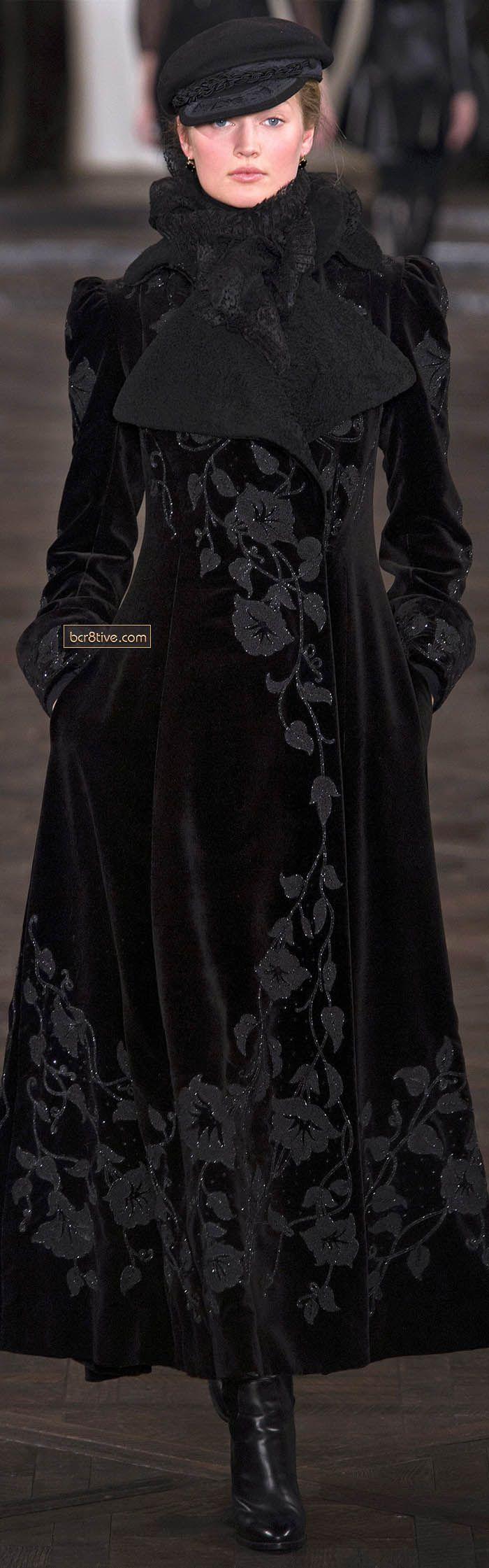 Black:  #Black ensemble ~ Ralph Lauren Fall Winter 2013 New York Fashion Week.