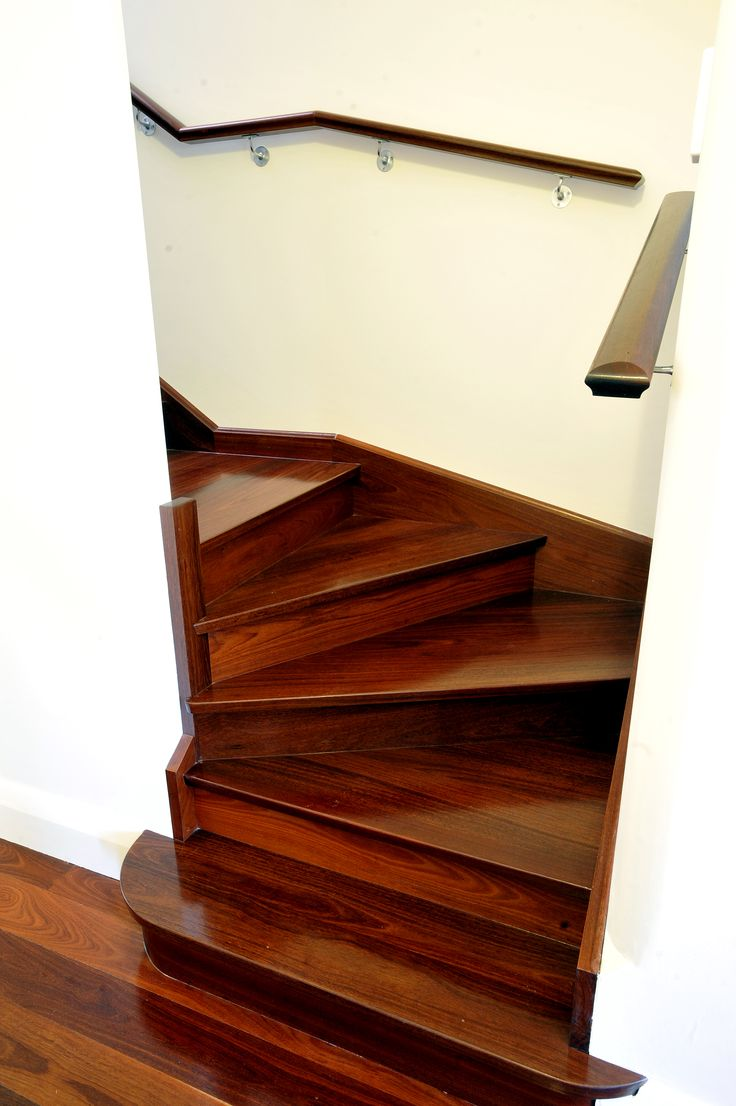 Jarrah stairs leading to the top storey addition #mthawthorn #amerex #perth #homerenovations