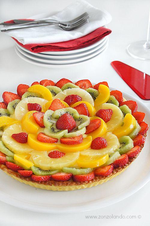 Crostata alla frutta ricetta favolosa - custard and fruit tart amazing recipe