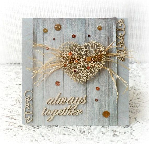 Handmade wedding card  aniversary card  by CarmenHandCrafts
