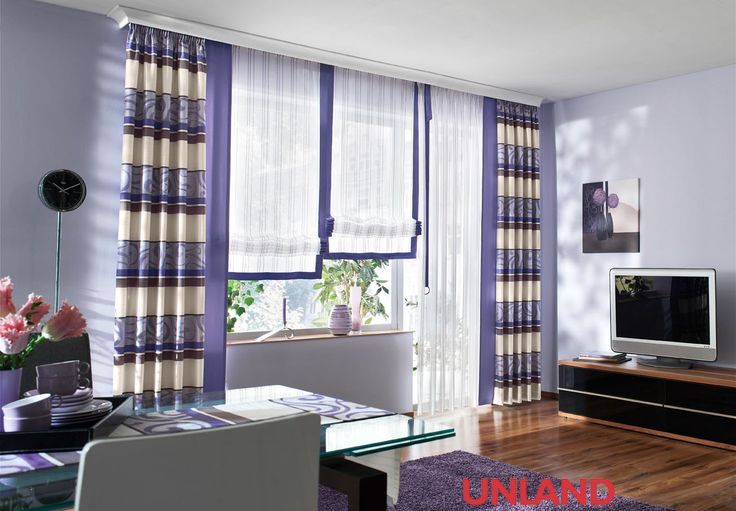 Unland Lavendel, Fensterideen, Vorhang, Gardinen und Sonnenschutz - curtains, contract fabrics, pleated blinds, roller blinds and more. Made in Germany