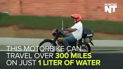 This motorbike can travel over 300 miles on just 1 liter of water.  #motorbike #power #water #tech https://video.buffer.com/v/563affbb9336d79e179b8571