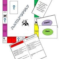 Voici ma création du jour. Un jeu de monopoly adapté pour mes ateliers de mathématiques. On y joue comme au monopoly classique à la différence que pour acheter une propriété ou...