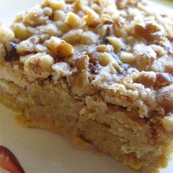 Great Pumpkin Dessert ~ Very easy cake made with canned pumpkin & yellow cake mix.