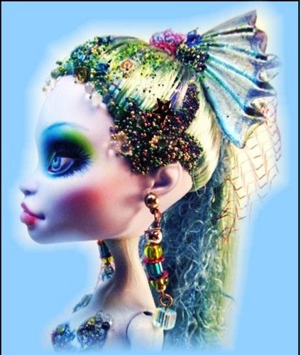 OOAK Mermaid Custom Monster High Doll Sculpted Repaint Reroot Abby Stunning New   eBay