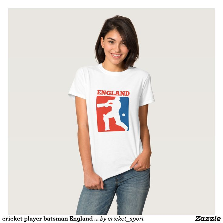 cricket player batsman England retro Shirt. Cricket World Cup women's t-shirt with an illustration of a cricket player batsman batting with bat done in retro style with word England.   #cricket #cricketworldcup #t20worldcup #worldtwenty20 #t20worldcup2016