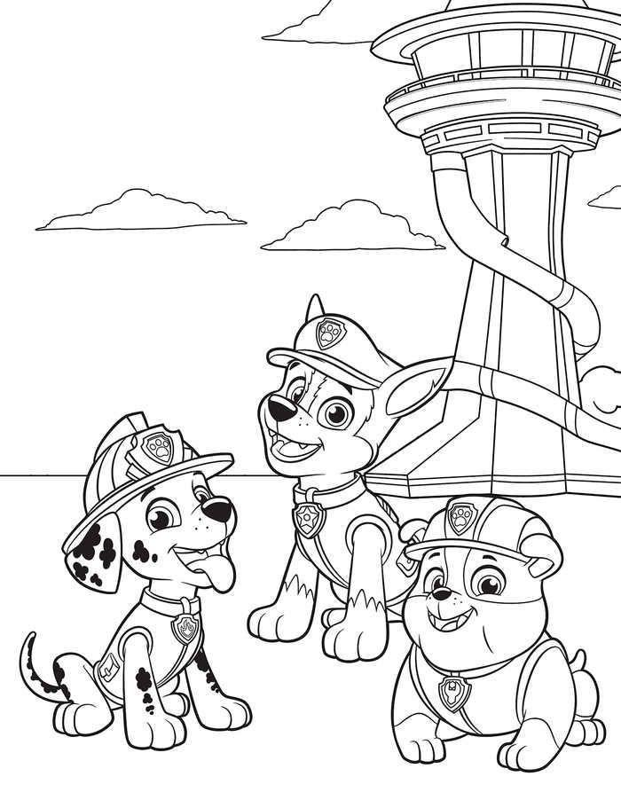 malvorlagen die happy pups paw patrol in 2020
