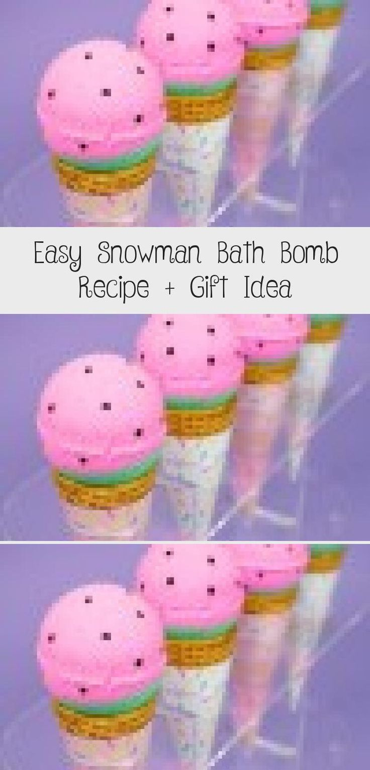 Easy Snowman Bath Bomb Recipe + Gift Idea Honey soap diy