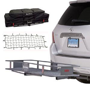 Sport Rack Trailer Hitch Receiver Folding Cargo Carrier, Gear Bag & Net, 20% Off