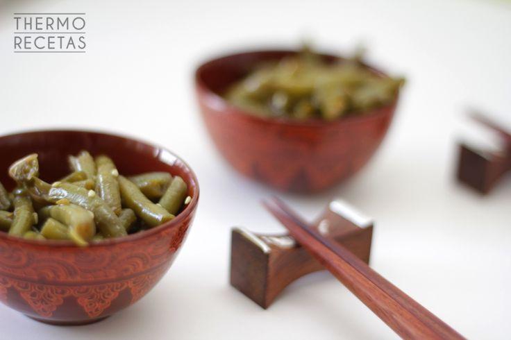 Judías verdes con sésamo estilo oriental - http://www.thermorecetas.com/judias-verdes-con-sesamo-estilo-oriental/