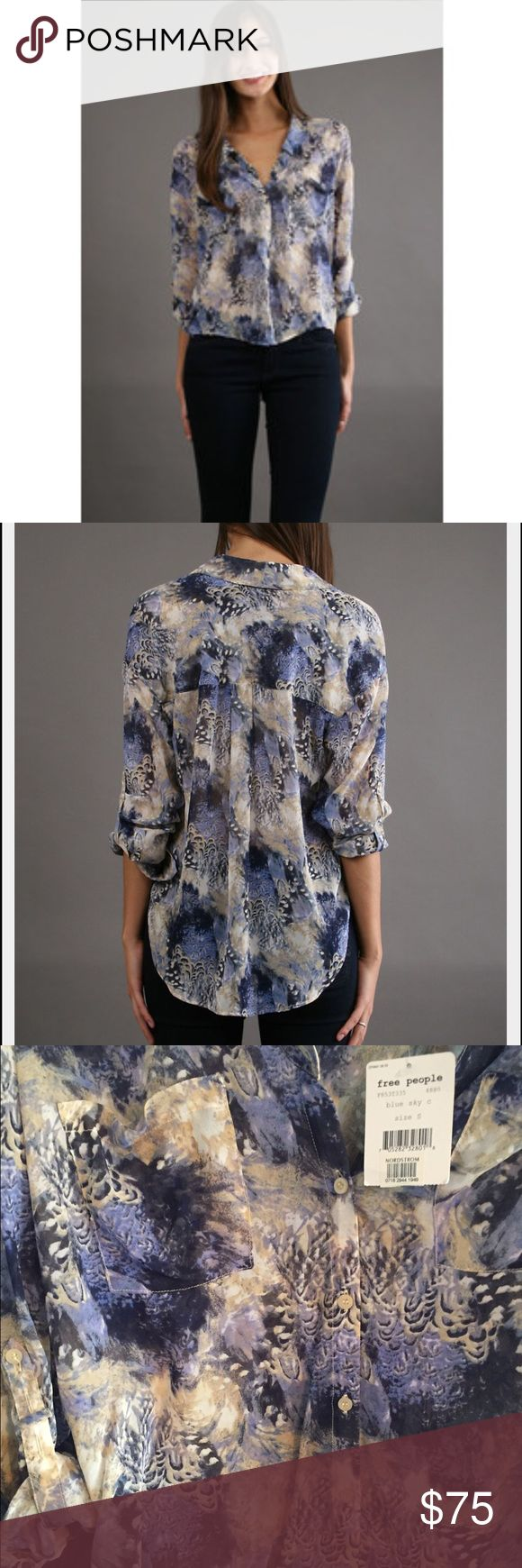Free People 'Georgette' Top in Blue Sky size S Free People 'Georgette' Top in Blue Sky size S Free People Tops Blouses