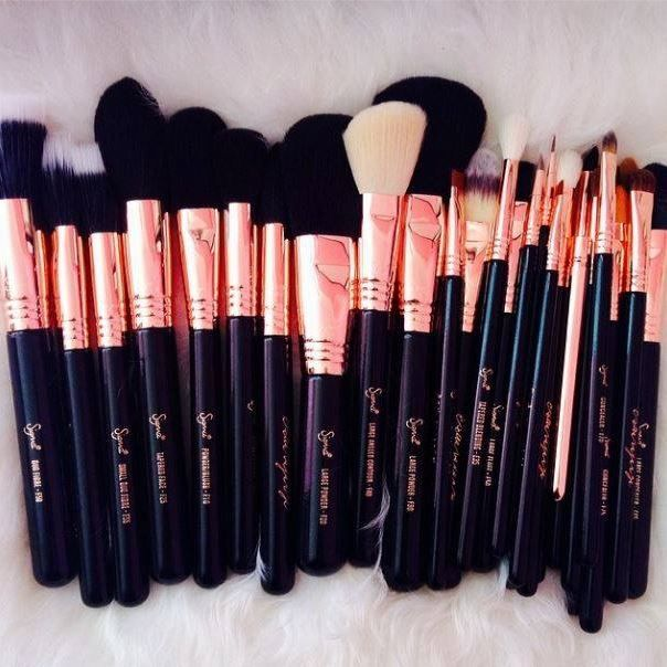 Rose gold Sigma brushes