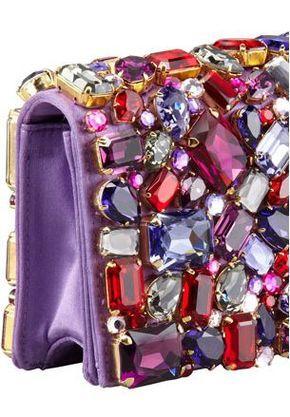 9d07b8682ea8 Prada Jeweled Satin Clutch Bag | Purse Love in 2019 | Bags, Purple ...