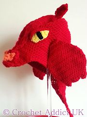Ravelry: Dragon Hat 1 yr+ pattern by Crochet AddictUK I Totally need this when I watch Game of Thrones! What a wonderful hat.