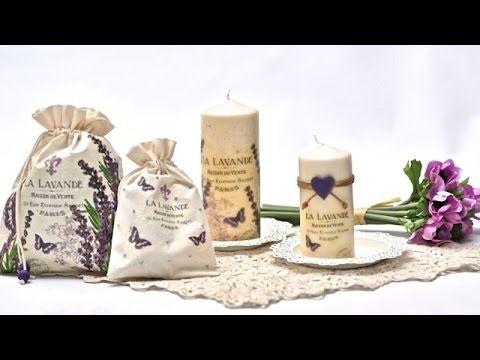 Decoupage na świecach i materiale
