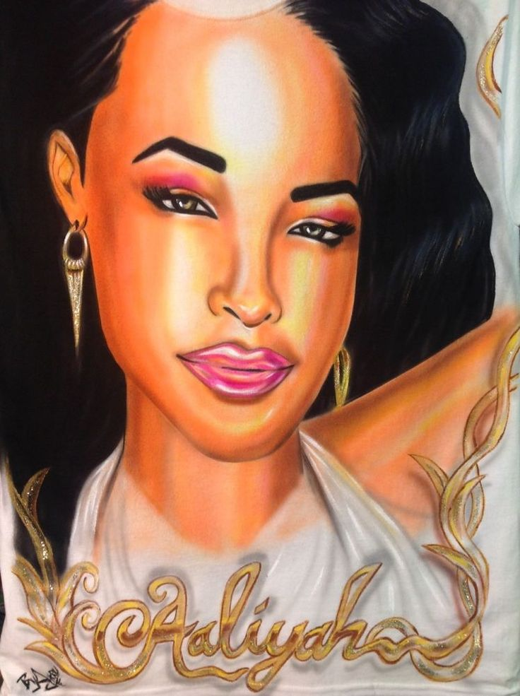 Aaliyah shirt Airbrushed