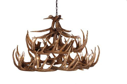 Wilderness large 2 tier antler chandelier H58cm, W80cm, £1795.00 Alexander & Pearl Ltd. http://www.alexanderandpearl.co.uk/wilderness-large-2-tier-antler-chandelier-13902-p.asp