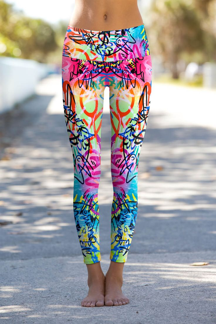 Om Shanti Eco-Friendly Printed Performance Leggings ($85): In additional to being fully functional, these are bold enough to act as a statement piece beneath a basic tee. Not into graffiti? No worries — there are more prints to choose from.