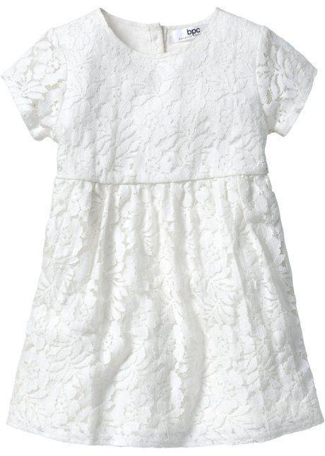 Кружевное платье, bpc bonprix collection, цвет белой шерсти