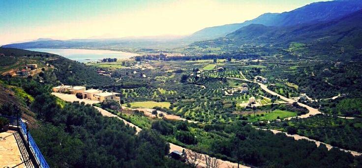 Panoramic view of Marika Apartments in Exopoli,Crete