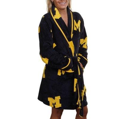 Michigan Wolverines Ladies Navy Blue Logo Cozy Robe