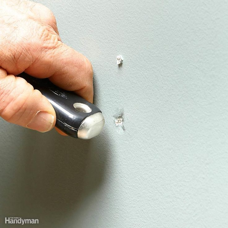 When you remove a nail, drywall anchor or picture hanger, there is usually a little ridge of old paint or drywall sticking out that's hard to cover with patching material. The solution is to make a dent over the hole, and then fill the dent. Most good-quality putty knives have a rounded hard plastic or brass end on the handle that works perfectly for making the dent. The rounded end of a screwdriver handle or the handle of a utility knife will also work. Press the handle against the hole and…