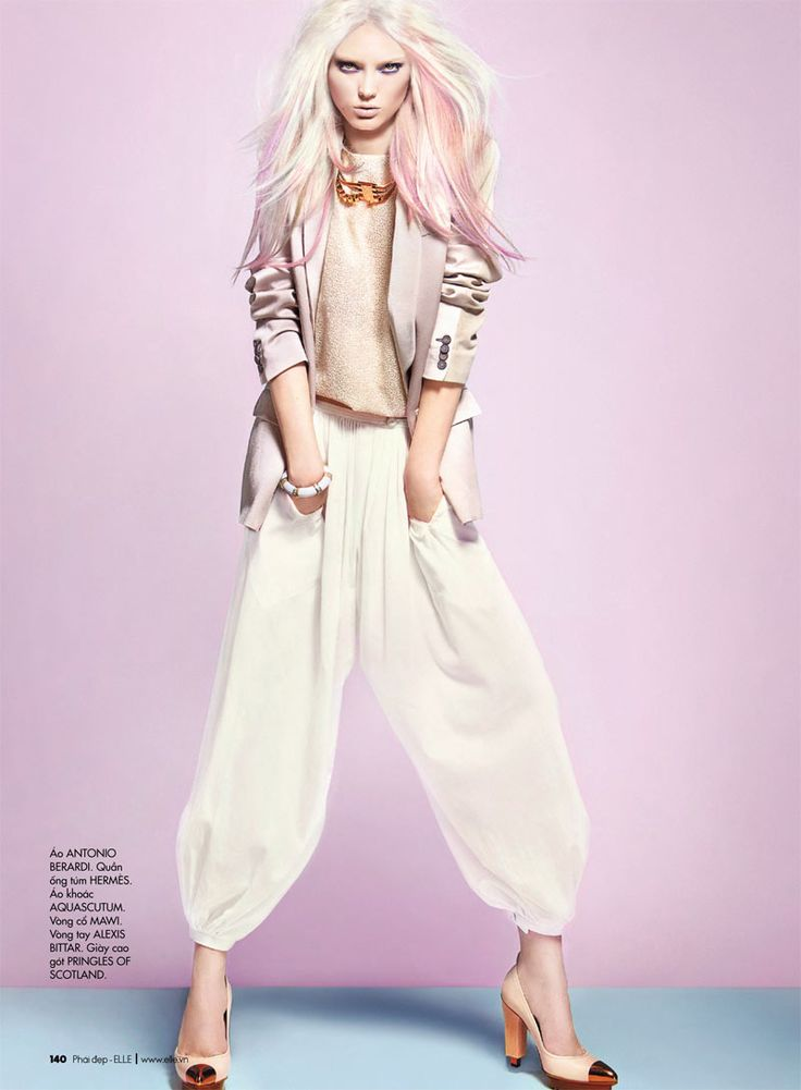 If I could be blonde I wouldn't be just a Blonde, I would be a Pink-Shadowed one! - Elle Vietnam April 2012