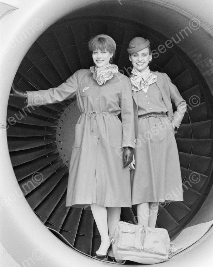 Presenting The New Stewardess Uniform Vintage 8x10 Reprint Of Old Photo Presenting The New Stewardess Uniform Vintage 8x10 Reprint Of Old Photo This is an excellent reproduction of an old photo. Repro