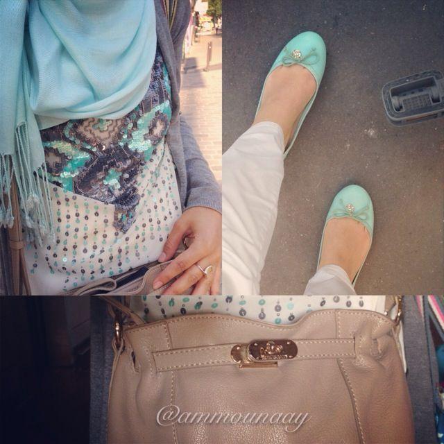 Shining turquoise. #HijabiFashion