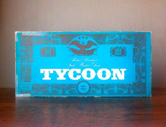 Vtg 1966 Parker Brothers Tycoon Stock Market Trading Board Game. Wall Street Day Trader Boardgame. Occupy Your Living Room. Complete in Box. on Etsy, $20.00