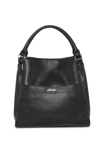 MANGO pebbled shoulder bag dubbel handvat aan de bovenkant, aansnoerkoordjes met karabijnsluiting en drukknoopsluiting. buitenzak en binnenzak met rits.  #damestas #ladybag #purse