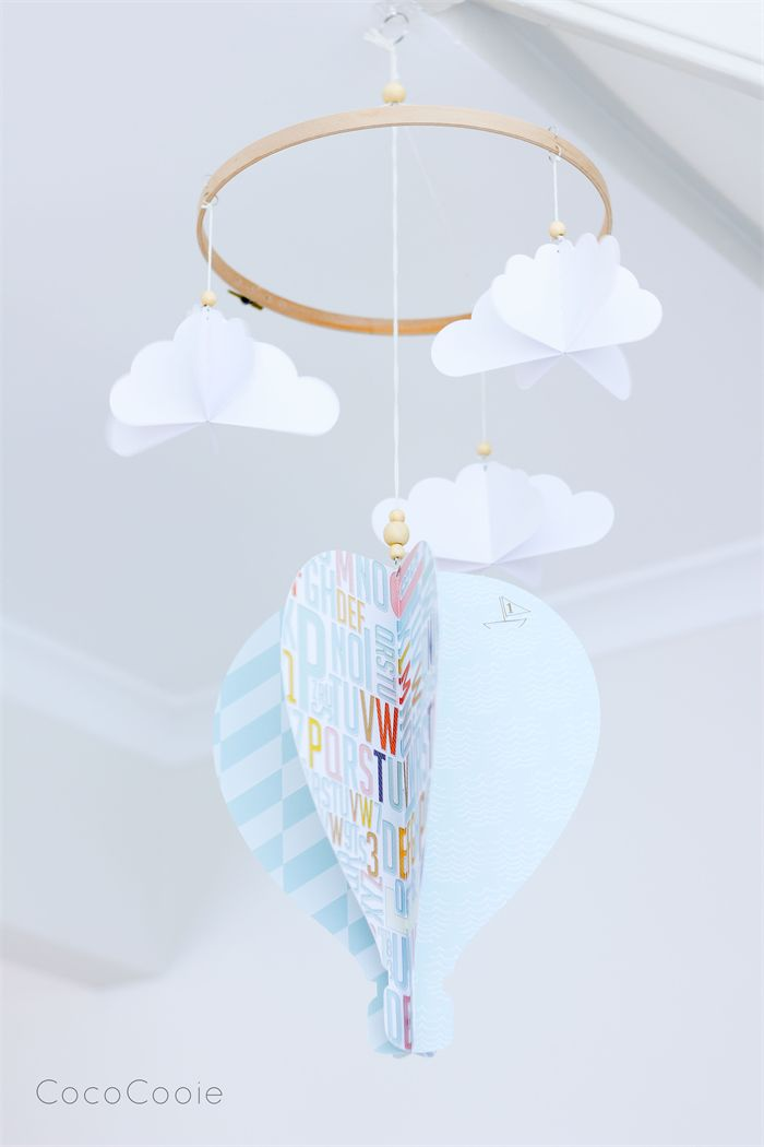 Large Hot Air Balloon Mobile - CUSTOM ORDERED in any colours | CocoCooie | madeit.com.au