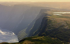 Cliff and Waterfall, Gros Morne National Park