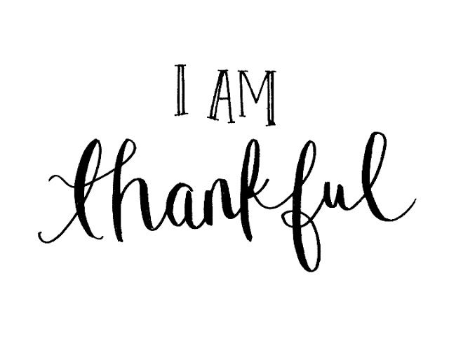 """I am Thankful"" printable. This month I'm going to write down something I'm thankful for each day. I made this little note card to remind me I have lots to be thankful for and to write down one of the reasons."
