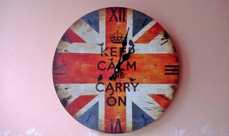 Küchenuhren - Wanduhr, Küchenuhr, Union Jack, England UK Flagge  - ein Designerstück von Landolina bei DaWanda